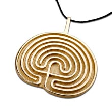 Amulets and Charms - Labyrinth pendant gold - Click here for more info