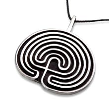 Amulets and Charms - Labyrinth pendant silver - Click here for more info