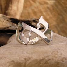 Amulets and Charms - AHAVA Ring silver - Click here for more info