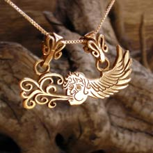 Amulets and Charms - Air Element Pendant Gold - Click here for more info