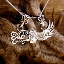 Amulets and Charms - Air Element Pendant Silver - Click here for more info