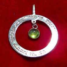 Amulets and Charms - Ana Becoach Circle Pendant in Silver - Click here for more info
