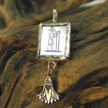 Amulets and Charms - Aquarius Jewelry Pendant Silver - Click here for more info