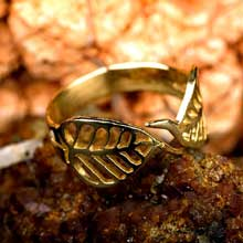 Amulets and Charms - Buddhi ring gold - Click here for more info