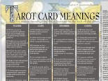 Tarot Card Meanings Sheet