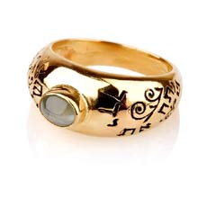 Amulets and Charms - Cat's Eye Abundance ring gold - Click here for more info