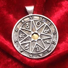Amulets and Charms - Seven metals Chaldean astrology talisman - Click here for more info