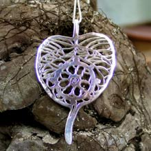 Amulets and Charms - Dharma Pendant Silver - Click here for more info