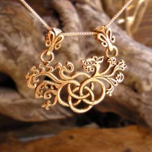 Amulets and Charms - Earth Element Pendant Gold - Click here for more info