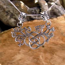 Amulets and Charms - Earth Element Pendant Silver - Click here for more info