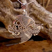 Amulets and Charms - Fire Element Pendant Silver - Click here for more info