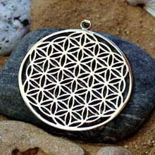Amulets and Charms - Flower of life pendant - silver - Click here for more info
