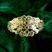 Amulets and Charms - Earth Ring gold with diamonds - Click here for more info