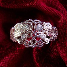 Amulets and Charms - Earth Element Ring silver - Click here for more info