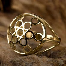 Amulets and Charms - Fruit of life ring gold - Click here for more info