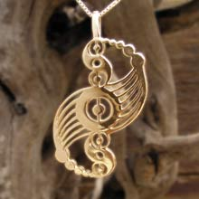 Amulets and Charms - Galactic Harmony Pendant Gold - Click here for more info