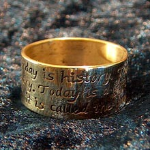 Amulets and Charms - Gift of Time ring gold - Click here for more info