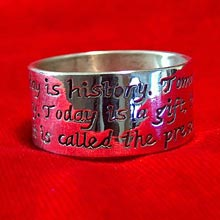 Amulets and Charms - Gift of Time ring silver - Click here for more info