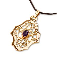 Amulets and Charms - Hamsa ben porat yosef gold - Click here for more info