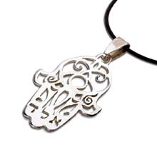 Amulets and Charms - Hamsa ALD silver - Click here for more info