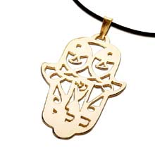 Amulets and Charms - Hamsa CLI gold - Click here for more info