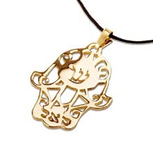 Amulets and Charms - Hamsa SAL gold - Click here for more info