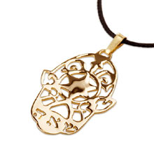 Amulets and Charms - Hamsa SHAH gold - Click here for more info