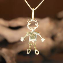 Amulets and Charms - Happiness pendant gold - Click here for more info