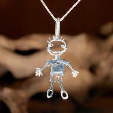 Amulets and Charms - happiness pendant silver - Click here for more info