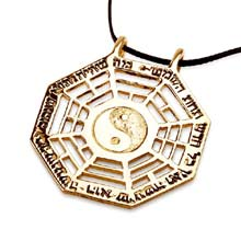 Amulets and Charms - I Ching pendant gold - Click here for more info