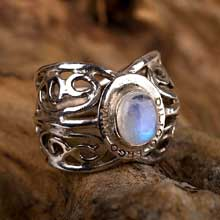 Amulets and Charms - I love therefore I am ring silver - Click here for more info
