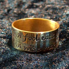 Amulets and Charms - Irish wit ring gold - Click here for more info