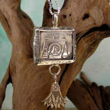 Amulets and Charms - Libra Jewelry Pendant Silver - Click here for more info