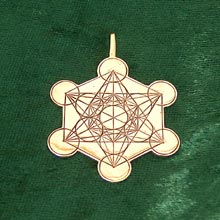 Amulets and Charms - Metatron Cube gold - Click here for more info