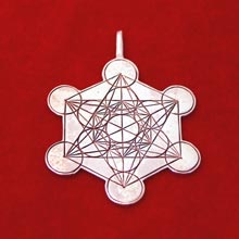 Amulets and Charms - Metatron Cube silver - Click here for more info