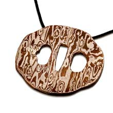 Amulets and Charms - Tsuba with mokume - Click here for more info