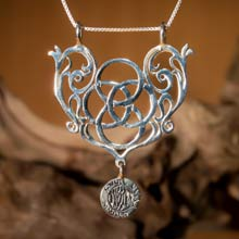 Amulets and Charms - Mother Earth Pendant silver - Click here for more info