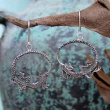 Amulets and Charms - Ouroboros Earring              - Click here for more info