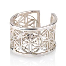 Amulets and Charms - Pattern of life ring big silver - Click here for more info