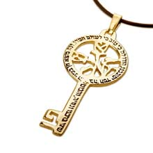 Amulets and Charms - Peace angel key gold - Click here for more info