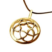 Amulets and Charms - Pentagramic torus knot gold - Click here for more info