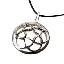 Amulets and Charms - Pentagramic torus knot silver - Click here for more info