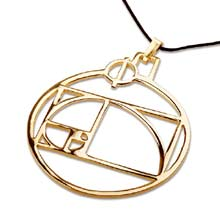 Amulets and Charms - Phi pendant gold - Click here for more info