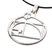Amulets and Charms - Phi pendant silver - Click here for more info