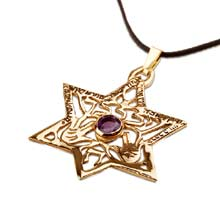 Amulets and Charms - Priestly blessings star gold - Click here for more info