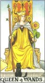 Tarot Meanings - Queen of Wands