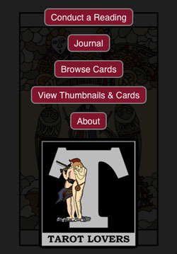 Tarot Card Reading App start