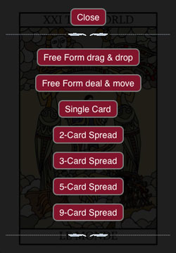 Tarot Card Reading App choose spread