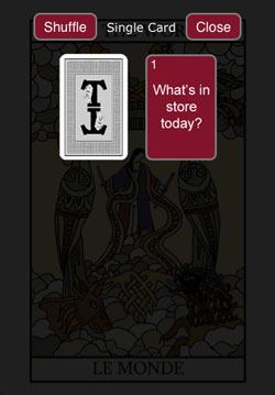 Tarot Card Reading App 2 card spread