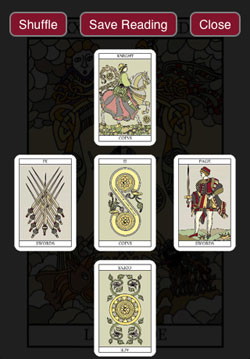 Tarot Card Reading App save reading